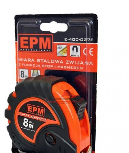 MIARA ZWIJANA ANTI-SHOCK 8M*25MM E-400-0278 EPM PROFESSIONAL
